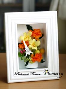 Plumerry(プルメリー)プリザーブドフラワースクール (千葉・浦安校)-プリザーブドフラワー フレーム ギフト
