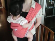 ママはじめました。【育児絵日記】-抱っこ紐装着