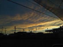 オキガル おきらく きmama日記-夕焼け