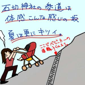 ママはじめました。【育児絵日記】-石切さん