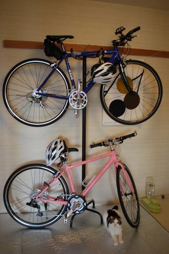 自転車をひっかける枝で自転車 ...