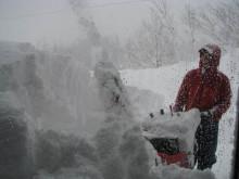 $totokoのスローライフ-南側の雪削り