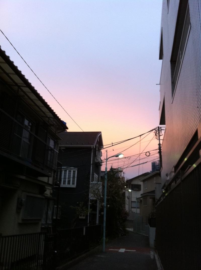 4/8(金):東京の夕焼けは地震の前兆だったか?