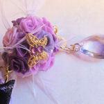 アナスイ風紫ローズボールのストラップ