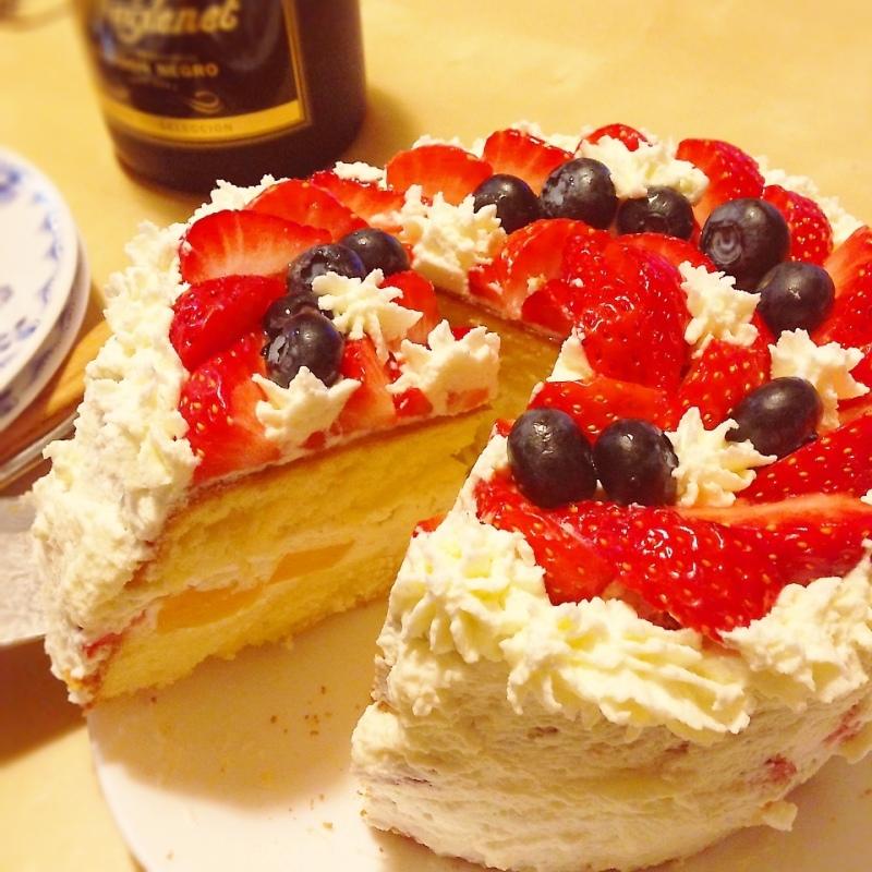 Xmasショートケーキ♡
