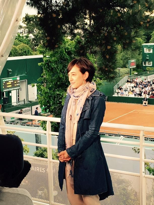 滝川クリステル髪型 全仏テニス