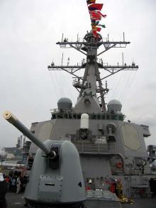 駆逐艦 船首