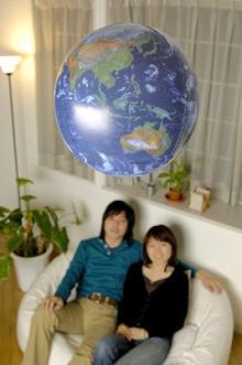 使用イメージ地球儀