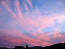 27日夕方の空