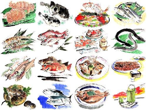 上 の 魚 の 絵 は 三 代目 魚 熊 ... : お魚の絵 : すべての講義