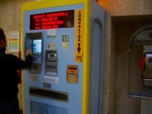 イタリアの切符販売機