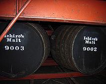 「Ichiro's Malt」貯蔵中の樽