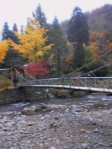 嵐渓荘(吊り橋)