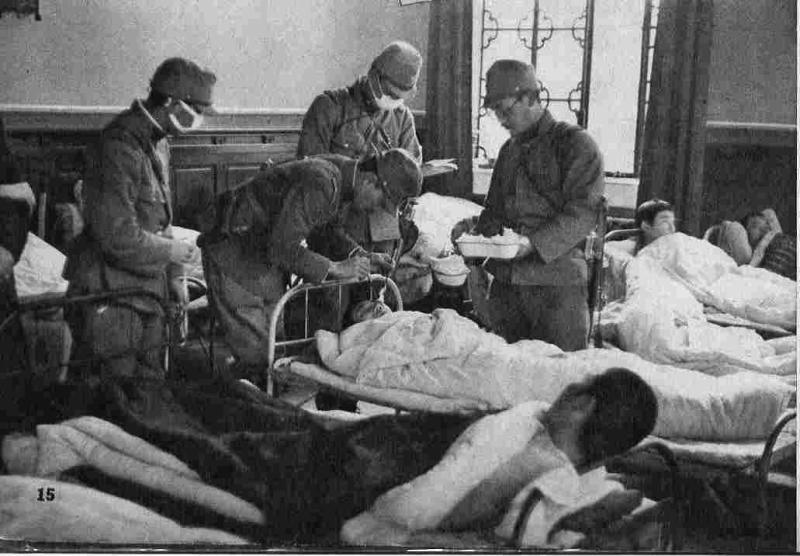 野戦病院の支那兵