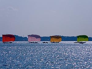 茨城県 行方市麻生商工会-七色帆引き