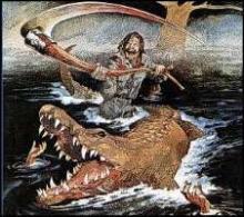 悪魔の沼 ワニ