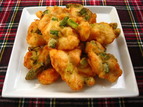 ひよこ食堂-鶏肉とアスパラの天ぷら02