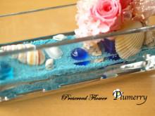 Plumerry(プルメリー)プリザーブドフラワースクール (千葉・浦安校)-ジェル アクアブルー