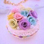シャーベットカラーの薔薇マカロン