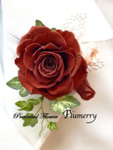 Plumerry(プルメリー)プリザーブドフラワースクール (千葉・浦安校)-コサージュ プリザーブドフラワー